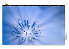 Carry-all Pouch featuring the photograph Pollination  Blue Chicory by Randall Branham