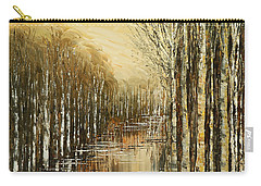 Carry-all Pouch featuring the painting Pond Security by Tatiana Iliina