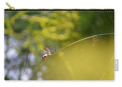 Carry-all Pouch featuring the photograph Pond-side Perch by JD Grimes