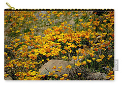 Poppies Everywhere Carry-all Pouch by Vicki Pelham
