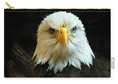 Carry-all Pouch featuring the photograph Portrait American Bald Eagle by Randall Branham