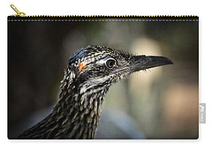 Portrait Of A Roadrunner  Carry-all Pouch by Saija  Lehtonen