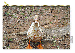 Carry-all Pouch featuring the photograph Portrait Of An Alabama Duck by Verana Stark