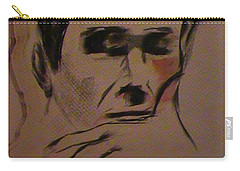 Carry-all Pouch featuring the painting Portrait Of Frank Frazetta by George Pedro