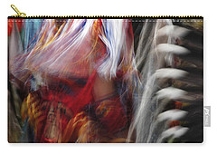 Carry-all Pouch featuring the photograph Pow Wow Dancer by Vivian Christopher