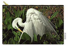 Preening Egret Carry-all Pouch