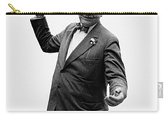 Carry-all Pouch featuring the photograph President Warren G Harding - C 1920 by International  Images
