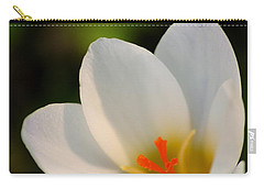 Pretty White Crocus Carry-all Pouch