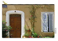 Carry-all Pouch featuring the photograph Provence Door 3 by Lainie Wrightson