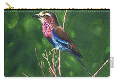 Purple And Blue Bird Carry-all Pouch
