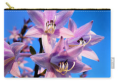 Carry-all Pouch featuring the photograph Purple Hosta Blooms by Davandra Cribbie