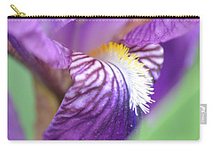 Carry-all Pouch featuring the photograph Purple Iris by JD Grimes