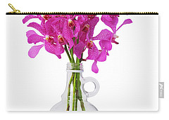 Purple Orchid In Bottle Carry-all Pouch