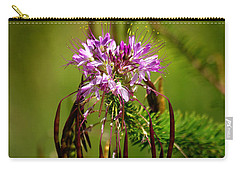 Carry-all Pouch featuring the photograph Purple Pizzazz by Vicki Pelham