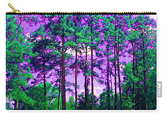 Carry-all Pouch featuring the photograph Purple Sky by George Pedro