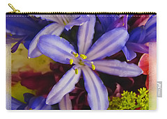 Carry-all Pouch featuring the photograph Purple Stars by Debbie Portwood