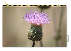 Carry-all Pouch featuring the photograph Purple Thistle by Donna  Smith
