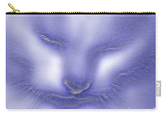 Digital Puss In Blue Carry-all Pouch by Linsey Williams