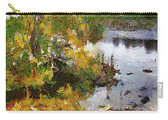 Carry-all Pouch featuring the painting Quarry View by Mario Carini