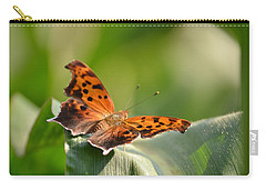 Carry-all Pouch featuring the photograph Question Mark Butterfly by JD Grimes