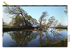 Carry-all Pouch featuring the photograph Quiet Reflection by Davandra Cribbie