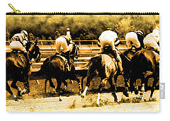 Carry-all Pouch featuring the photograph Race To The Finish Line by Alice Gipson