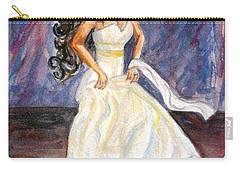 Carry-all Pouch featuring the painting Rachel by Clara Sue Beym