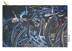 Carry-all Pouch featuring the photograph Racing Bikes by Sarah McKoy