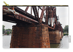 Carry-all Pouch featuring the photograph Railroad Bridge 1 by Kay Lovingood