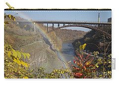 Carry-all Pouch featuring the photograph Rainbow At Lower Falls by William Norton