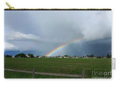Carry-all Pouch featuring the photograph Rainbow Before The Storm by Nina Prommer