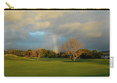 Carry-all Pouch featuring the photograph Rainbow Over Princeville by Lynn Bauer