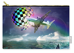 Carry-all Pouch featuring the digital art Rainbow Set Free by Rosa Cobos