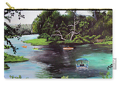 Rainbow Springs In Florida Carry-all Pouch by Luis F Rodriguez