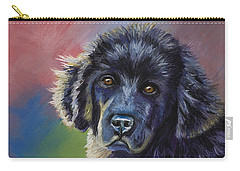 Rainbows And Sunshine - Newfoundland Puppy Carry-all Pouch