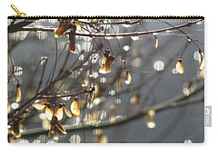 Raindrops And Leaves Carry-all Pouch