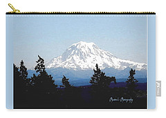 Carry-all Pouch featuring the photograph Rainier Reign by Sadie Reneau
