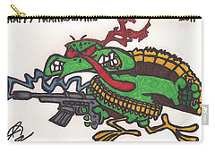 Carry-all Pouch featuring the drawing Rambo Turkey by Jeremiah Colley