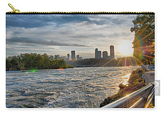 Carry-all Pouch featuring the photograph Rapids Sunset by Michael Frank Jr