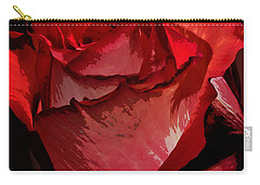 Rare Red Rose Carry-all Pouch by Phyllis Denton