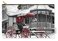 Carry-all Pouch featuring the photograph Red Buggy At Olmsted Falls - 2 by Mark Madere