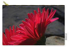 Red English Daisy Carry-all Pouch by Joe Schofield