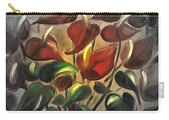 Red Flowers 2 Carry-all Pouch