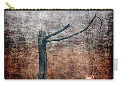 Carry-all Pouch featuring the photograph Red Fox Under Tree by Dan Friend
