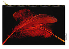 Red Ghost On Black Carry-all Pouch
