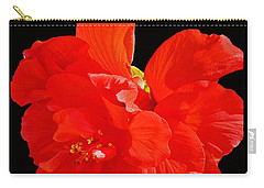 Carry-all Pouch featuring the photograph Red Hibiscus by Cindy Manero