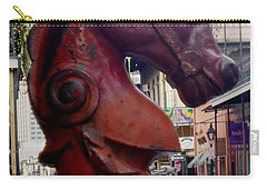 Carry-all Pouch featuring the photograph Red Horse Head Post by Alys Caviness-Gober