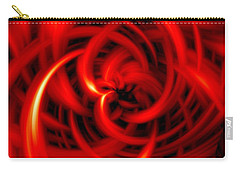 Carry-all Pouch featuring the digital art Red Hot by Davandra Cribbie
