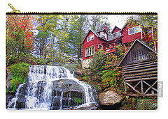 Red House By The Waterfall 2 Carry-all Pouch