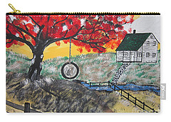 Carry-all Pouch featuring the painting Red Maple  Swing by Jeffrey Koss